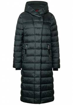Street One Damen Langer Wintermantel Midnight Green 44 von Street One