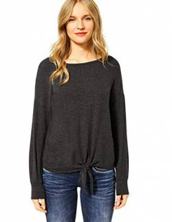 Street One Damen 315621 T-Shirt, Coaly Anthracite Melange, 36 von Street One