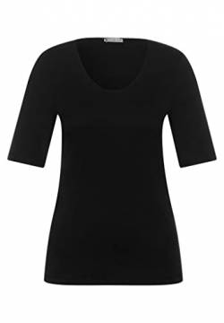 Street One Damen T-Shirt 313104 Palmira, Schwarz (Black 10001), 36 von Street One