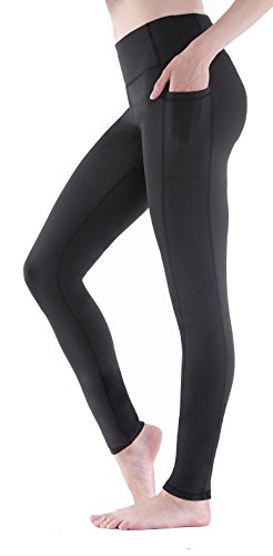 Sudawave Damen Workout Leggings für Damen mit Pocket Running Active Tights Yogahosen (Schwarz(Ankle), M) von Sudawave
