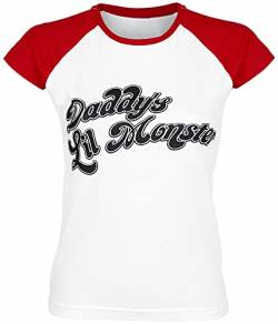 Suicide Squad Harley Quinn - Daddy's Little Monster T-Shirt weiß/rot L von Suicide Squad