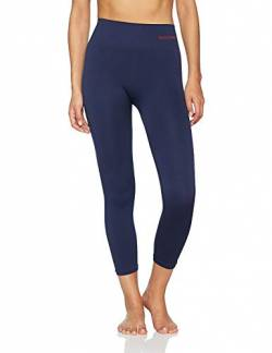 Sundried Frauen geerntete Leggings 3/4 Capri Tights Yoga Lauf Gym Training (Blau, S) von Sundried