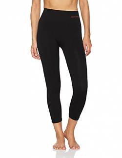 Sundried Frauen geerntete Leggings 3/4 Capri Tights Yoga Lauf Gym Training (Schwarz, M) von Sundried
