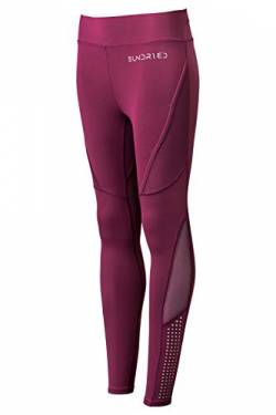 Sundried Sport Trainingshose Damen Seamless Fitness Lauf Gym Tights (Pflaume, L) von Sundried