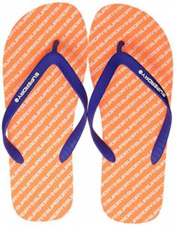 Superdry International Flip Flop, Herren Zehentrenner, Mehrfarbig (Fluro Orange/Cobalt I3f), 44/45 EU von Superdry