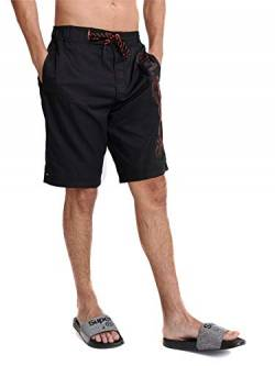 Superdry Mens Classic Boardshort Board Shorts, Black, S von Superdry