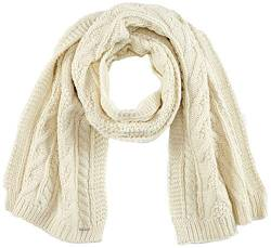 Superdry Mens LANNAH Cable Fashion Scarf, Cream, Einheitsgröße von Superdry