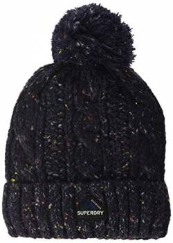 Superdry Womens Gracie Cable Beanie Hat, Boston Navy Tweed, Einheitsgröße von Superdry
