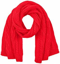 Superdry Womens LANNAH Cable Fashion Scarf, Rouge Red, Einheitsgröße von Superdry