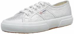 Superga Unisex-Kinder 2750-lamej Low-Top, Silber (031), 28 EU von Superga