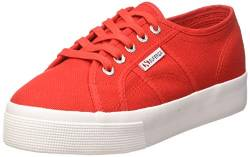 Superga Damen S00C3N0 Gymnastikschuhe, Rot (Red/White C90), 42 EU von Superga