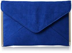 SwankySwans Damen Louis Suede Slim Envelope Party Prom Clutch Bag Tasche, Blau (Königsblau), One Size von SwankySwans