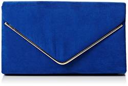 SwankySwans Damen Oscar Envelope Suede Velvet Party Prom Clutch Bag Tasche, Blau (Royal Blue 03), One Size von SwankySwans