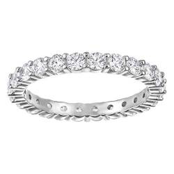 Swarovski Women's Vittore XL Ring, White Crystals in a Stunning Rhodium Plated Silver Band von Swarovski