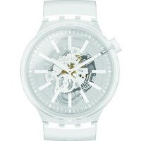 Swatch Big Bold Whiteinjelly Unisexuhr in Transparent SO27E106 von Swatch
