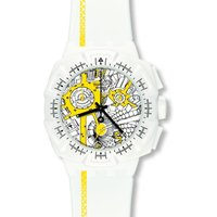 Swatch Chrono Plastic Street Map Yellow Herrenchronograph in Weiß SUIW410 von Swatch