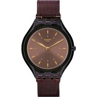 Swatch Deep Wonder Skinchoc Damenuhr in Braun SVOC101M von Swatch