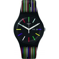 Swatch I Love Your Folk Nuit D'Ete Unisexuhr in Zweifarbig SUOB729 von Swatch