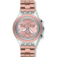 Swatch Irony Diaphane Full-Blooded Caramel Unisexchronograph in Rosa SVCK4047AG von Swatch