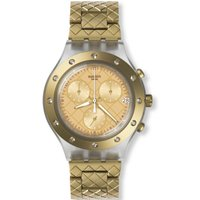 Swatch Irony Diaphane Waffelraffel Damenchronograph in Gold SVCK4082AG von Swatch