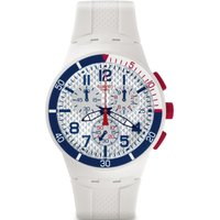 Swatch Originals Chrono Chronoplastic - Speed Up Herrenchronograph in Weiß SUSM401 von Swatch