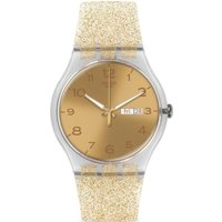 Swatch Originals New Gent New Gent - Golden Sparkle Unisexuhr in Gold SUOK704 von Swatch