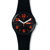 Swatch Originals New Gent Orangio Unisexuhr in Schwarz SUOB723 von Swatch