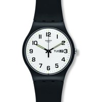 Swatch Originals New Gent Twice Again Unisexuhr in Schwarz SUOB705 von Swatch