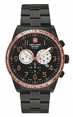Swiss Alpine Military by Grovana Herrenuhr Chrono 10 ATM Black IP Black/Rose 7082.9187SAM von Swiss Military Hanowa
