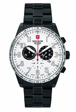 Swiss Alpine Military by Grovana Herrenuhr Chrono 10 ATM Black IP Silver 7082.9173SAM von Swiss Military Hanowa