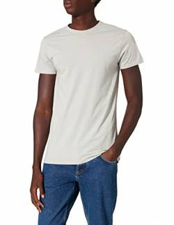 T-Shirts Herren Muskel-T-Shirt aus Baumwolle, Grau (Light Grey Marl), Large von T-Shirts