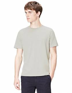 T-Shirts Herren Slim Fit T-Shirt, Grau (Light Grey Marl), Medium von T-Shirts