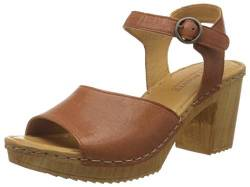 TEN POINTS Damen Amelia Plateausandalen, Braun (Cognac 319), 37 EU von TEN POINTS