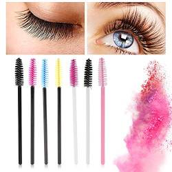 Einweg Wimpernbürsten, 50 Stücke Wimpernkamm Mascara Applikatoren, Bunte Mascara Pinsel Wimpern Augenbraue Pinsel Kosmetik Pinsel Make Up Tool Kit(07#) von TMISHION
