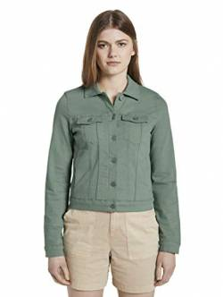 TOM TAILOR Denim Damen Riders Denim Jeansjacke, 22577-dust Green, XS von TOM TAILOR Denim