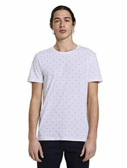 TOM TAILOR Denim Herren Alloverprint T-Shirt, 23668-white small Element, M von TOM TAILOR Denim