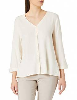 TOM TAILOR Denim Damen 1023850 V-Neck Bluse, 22515-Soft Creme Beige, M von TOM TAILOR Denim