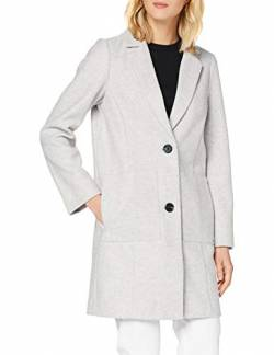 TOM TAILOR Denim Damen Bonded Woll Blazer Jacke, 10367-Light Silver Grey Mé, S von TOM TAILOR Denim