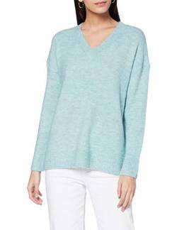TOM TAILOR Denim Damen Cosy V-Neck Pullover, 24578-mineral Stone Blue m, S von TOM TAILOR Denim
