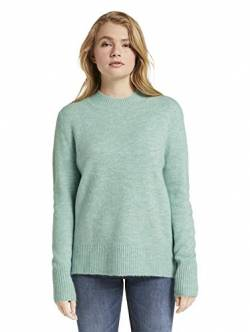 TOM TAILOR Denim Damen Cozy Mock Neck Pullover, 24578-mineral Stone Blue m, S von TOM TAILOR Denim