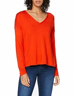 TOM TAILOR Damen 1009106 Pullover, Rot (Bright Red 15612), XS von TOM TAILOR