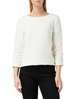 TOM TAILOR Denim Damen Struktur Sweatshirt, 10332-Off White, XL von TOM TAILOR Denim