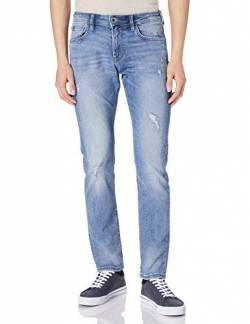 TOM TAILOR Denim Herren 1026642 Piers Slim Jeans, 10117-Used Bleached Blue Denim, 30W / 34L von TOM TAILOR Denim