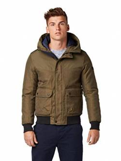 TOM TAILOR Herren Blouson mit Kapuze Jacke, Grün (Olive Night Green 13050), XL von TOM TAILOR