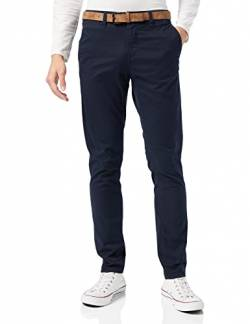 Tom Tailor Denim Herren Chino Hose Basic Slim Chino Hose, Blau (Sky Captain Blue 10668), W30/L32 von TOM TAILOR DENIM