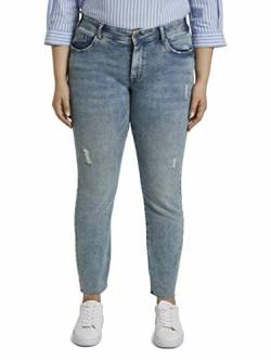 TOM TAILOR MY TRUE ME Damen Destroyed Skinny Freizeithose, 10280-light Stone wash den, 54 von TOM TAILOR MY TRUE ME