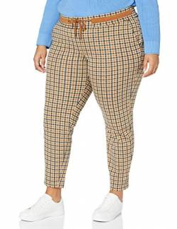 TOM TAILOR MY TRUE ME Damen Karohose Hose, 24274-beige Brown Check de, 52 von TOM TAILOR MY TRUE ME
