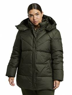 TOM TAILOR MY TRUE ME Damen Puffer Jacke, 11172-Dark Rosin Green, 48 von TOM TAILOR MY TRUE ME