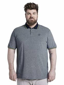 TOM TAILOR Men+ Herren Polo Polohemd, 22843-dark Blue Two Tone, 2XL von TOM TAILOR Men+
