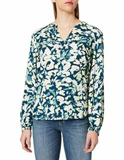 TOM TAILOR mine to five Damen 1024624 Blouse Bluse, 27172-Navy Mint Flower Design, 38 von TOM TAILOR mine to five